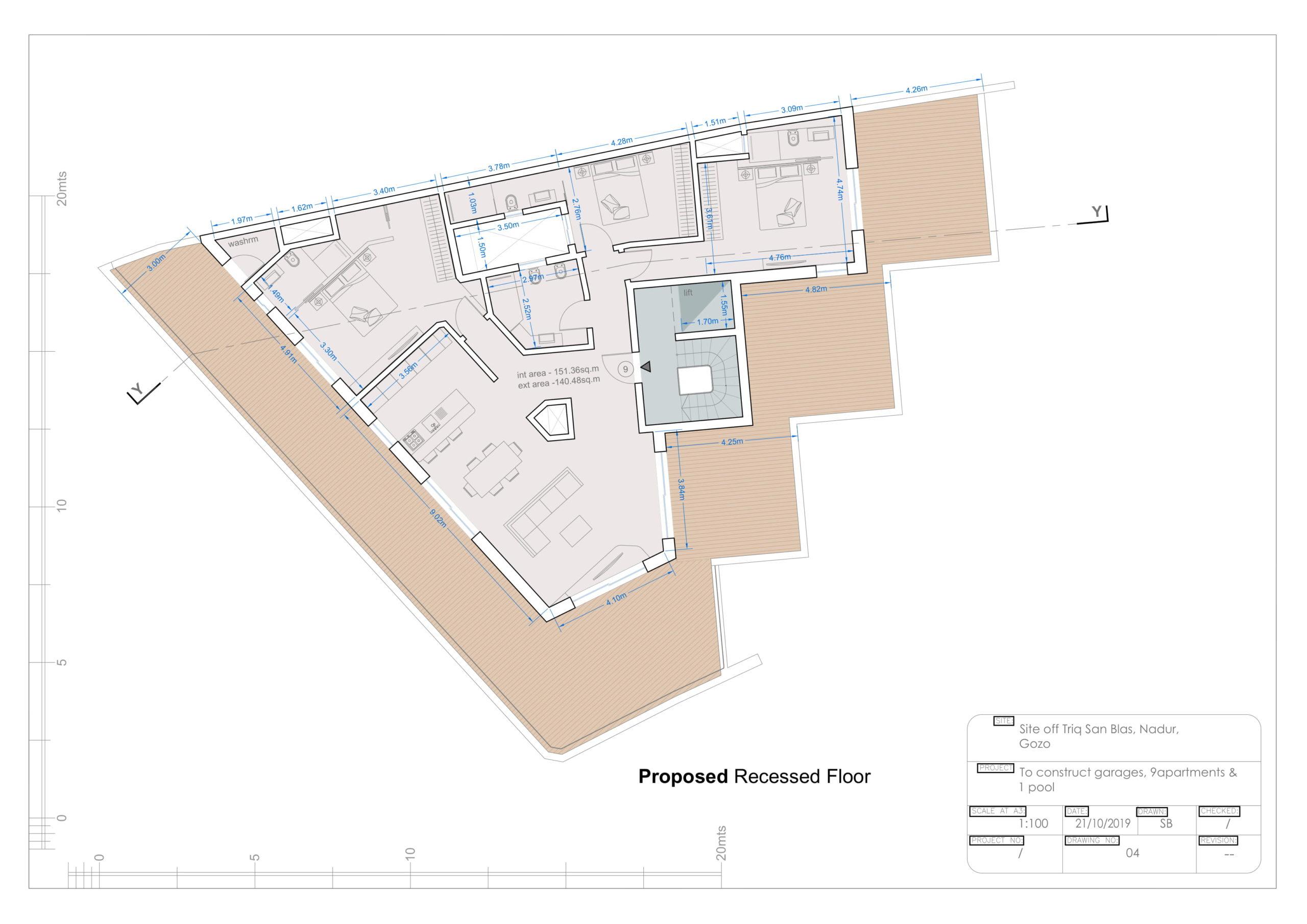 Dwg 04 - Proposed Recessed Floor Level-1 2